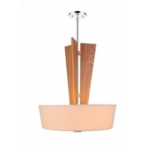 Woodbridge Lighting 17020STN Wood Angle 3-light Pendant with Tapered Shade