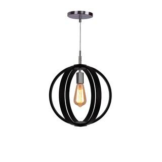 Woodbridge Lighting 16923STN Celestial Nickel-finish Wood 1-light Mid-pendant Fixture