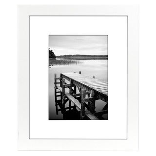 Americanflat 8 x 10-inch White Picture Frame for 5 x 7-inch Pictures with Mat or 8 x 10-inch Pictures Without Mat