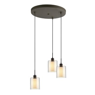 Woodbridge Lighting 14724CHR Alaina Chrome Glass 3-light Cluster Light