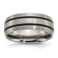 Titanium Enameled 8mm Satin Band
