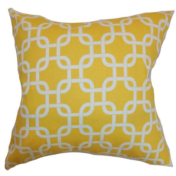 Qishn Geometric Euro Sham Corn Yellow Twill