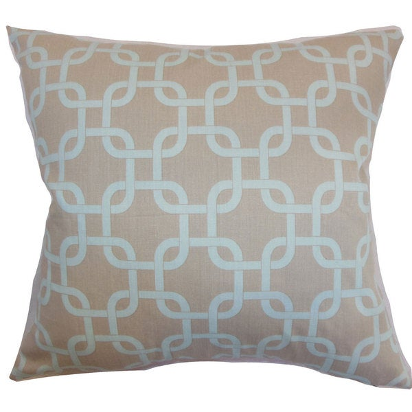 Qishn Geometric Euro Sham Powder Blue