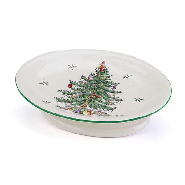 Spode Christmas Tree Holiday Themed Soap Dish