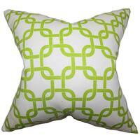 Qishn Geometric Euro Sham Green White