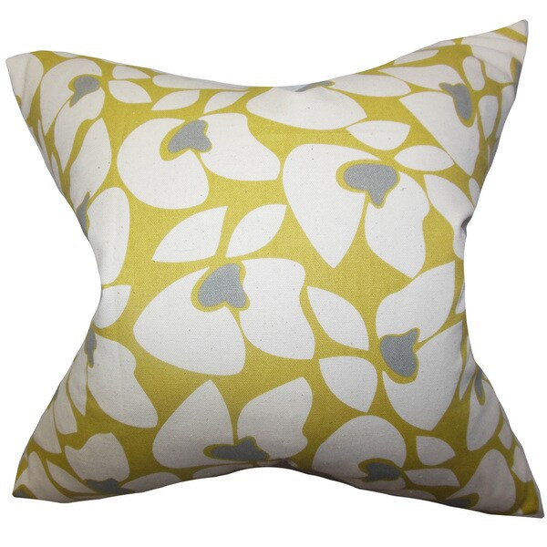 Zaza Geometric Euro Sham Yellow