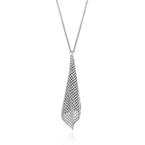 Isla Simone - Fine Silver Plated Perline Cone Necklace