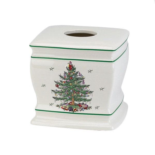 Spode Christmas Tree Holiday Themed Tissue Cover