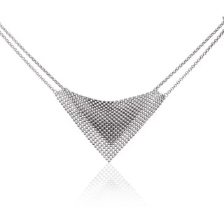 Isla Simone - Fine Silver Plated Perline Bib Necklace