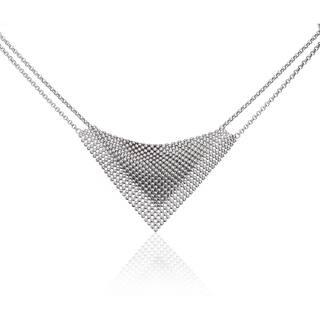 Isla Simone - Fine Silver Plated Perline Bib Necklace|https://ak1.ostkcdn.com/images/products/12885322/P19644419.jpg?impolicy=medium