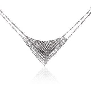 Isla Simone - Fine Silver Plated Perline Bib Necklace