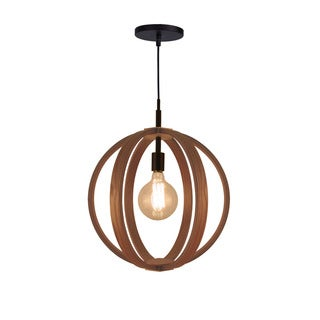 Woodbridge Lighting Brass-finished Wood Celestial 1-light Pendant