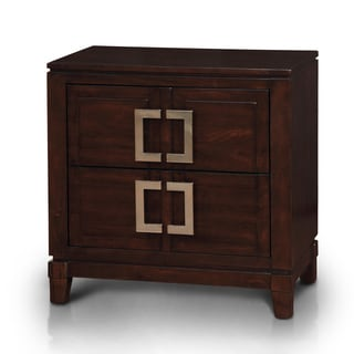 Furniture of America Sovena Brown Cherry 2-drawer Nightstand