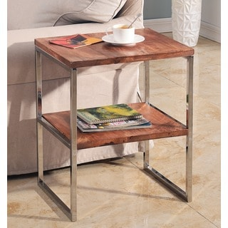 Ply Wood Accent Table with Shelf