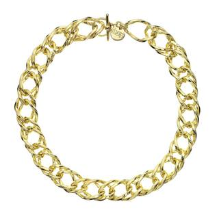 Isla Simone - 18 Karat Gold Electro Plated Rope Link Chain Necklace With Clasp|https://ak1.ostkcdn.com/images/products/12885374/P19644453.jpg?impolicy=medium