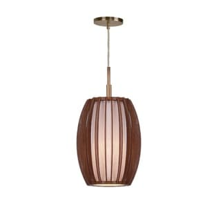 Woodbridge Lighting 16023-WSF1AS Fins Wood 1-light Mini-pendant Fixture