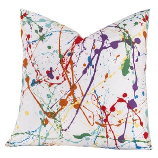 Crayola Splat Multicolored Polyester Decorative Throw Pillow