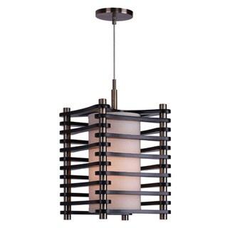 Woodbridge Lighting 16023-WSB1EP Steps Square Wood 1-light Mid-pendant