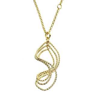 Isla Simone - 18 Karat Gold Electro Plated Textured Swirl Necklace