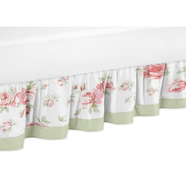 Sweet Jojo Designs Riley's Roses Toddler Bedskirt