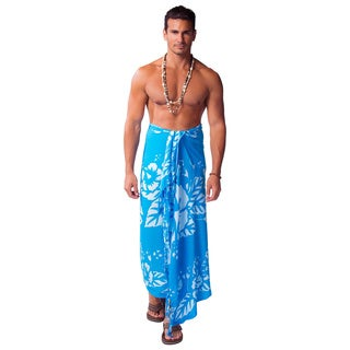 Handmade 1 World Sarongs Mens Hibiscus Sarong (Indonesia)