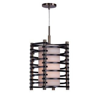 Woodbridge Lighting Steps Round Wood 1-light Mid-pendant Light
