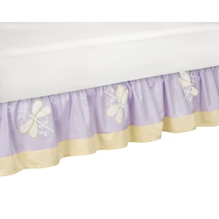 Sweet Jojo Designs Purple Dragonfly Dreams Toddler Bedskirt