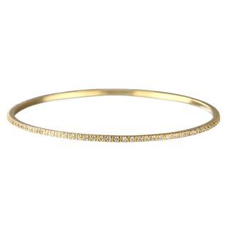 Gold CZ Bangle Bracelet