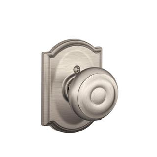 Schlage Camelot Collection Georgian Satin Nickel Dummy Knob