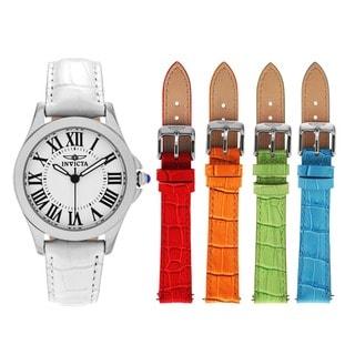 Invicta Women's 15935 Angel Quartz 3 Hand White Dial Watch