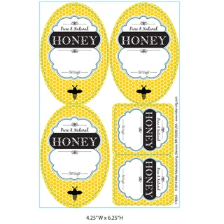 Little Giant Farm & Ag HLABEL Labels For Honey Jars