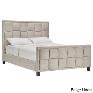 Porter Linen Woven Upholstered Bed with Footboard by iNSPIRE Q Classic (5 options available)