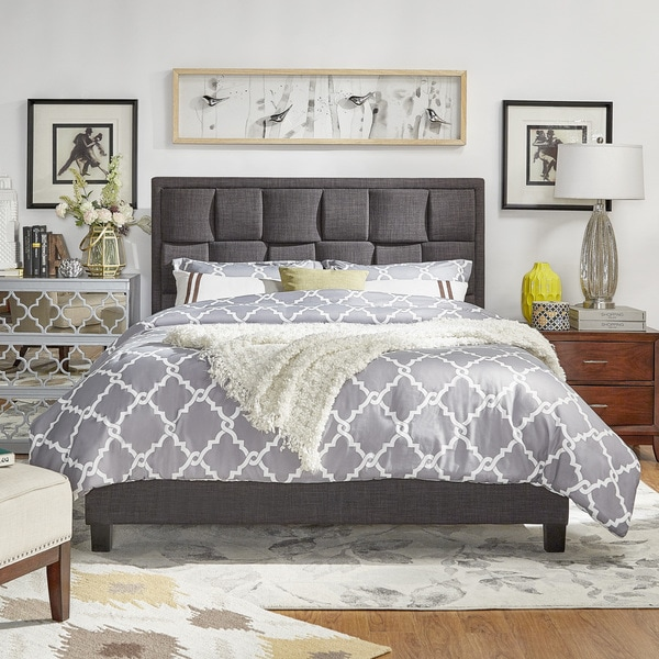 Porter Linen Woven Upholstered Bed By INSPIRE Q Classic