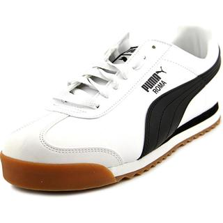 Puma Men's 'Roma Basic' White Leather Athletic Shoes