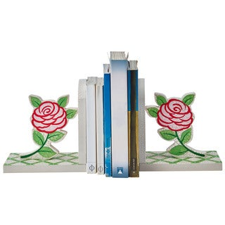 Fantasy Fields 'Crackled Rose' Multicolor Wood and MDF Bookends (Pack of 2)
