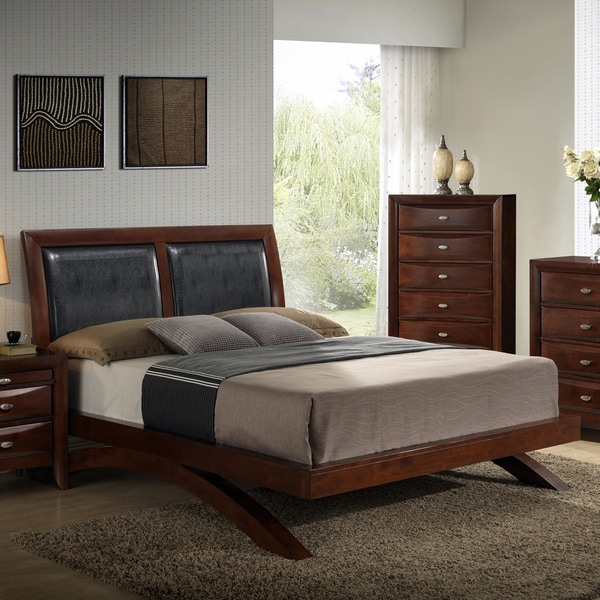 Shop Emily 111 Merlot Finished Wood Arch Leg Queen Bed