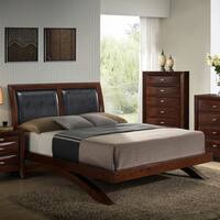 Emily 111 Merlot-finished Wood Arch-leg Queen Bed