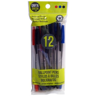 Onyx And Blue Corporation 1000 Ballpoint Pen Assorted Colors 12 Count