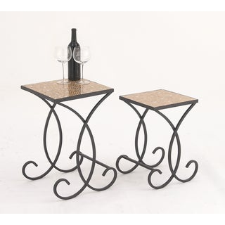 Urban Designs Sandstorm Square Mosaic Nested Accent Tables (Set of 2)