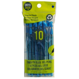 Onyx And Blue Corporation 1007 Recycled Gel Pens With Blue Ink 10 Count