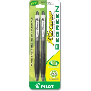 Pilot 32373 Black Rex Grip Be Green Ballpoint Pen 2 Count
