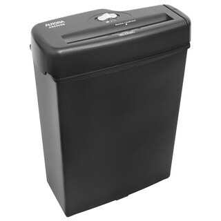 Aurora AS600SB Black Light Duty Strip Cut Shredder 6 Sheet