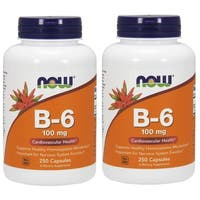Now Foods B-6 100 mg (250 Capsules)