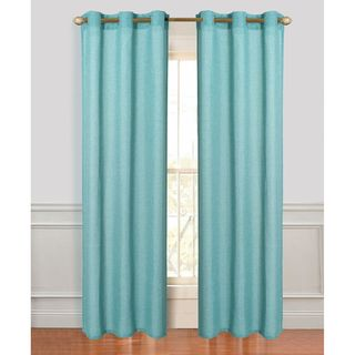 Alivia Linen Look Polyester Grommet Curtain Panel Pair