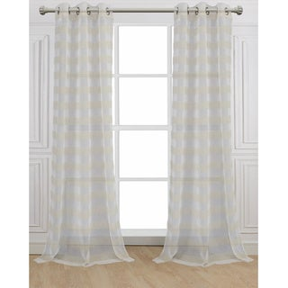 Cabana White Linen Curtain Panel Pair