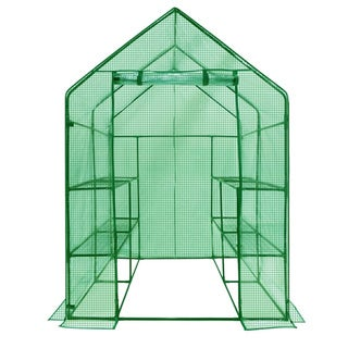 Greenhouse PE 2-tier 8-shelf Replacement Cover (Frame Size 77-inch H x 56-inch W x 56-inch D)