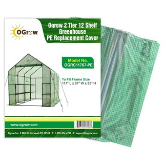 OGrow 2-tier 12-shelf Greenhouse PE Replacement Cover
