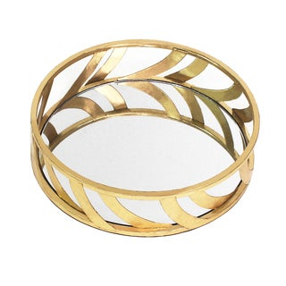 TETON HOME GOLD STREAMLINE MIRROR TRAY - TD-015