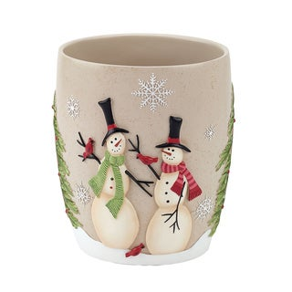 Tall Christmas Snowman Holiday Themed Wastebasket