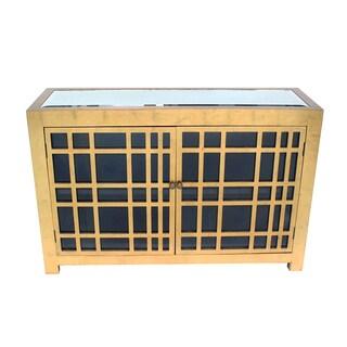 Teton Home Rustic Gold Lattice Cabinet - Af-117